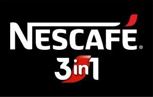 Logo nescafe 3in1 negru